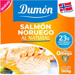 SALMON NORUEGO AL NATURAL 160GR - DUMON